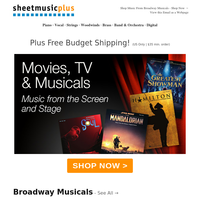 🎭  Broadway Is BACK! Shop New Musicals & Your Favorites
