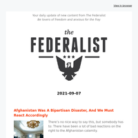 The Federalist Daily Briefing 2021-09-07