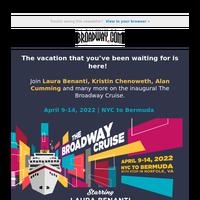 Set Sail To Bermuda With Your Favorite Broadway Stars – April 9, 2022