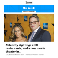 This Just In: Celebrity sightings at RI restaurants, and a new movie theater in Warwick