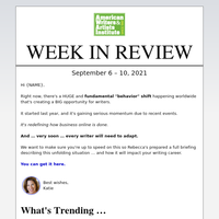 {NAME}, Latest news and upcoming events from AWAI