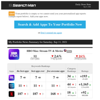 SEO Stats for HBO Max: Stream TV & Movies - Sep 11, 2021