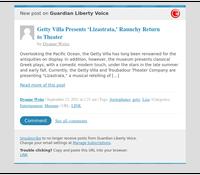 [New post] Getty Villa Presents 'Lizastrata,' Raunchy Return to Theater
