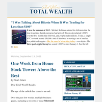 One Work from Home Stock Towers Above the Rest