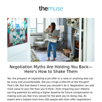 These negotiation myths are holding you back
