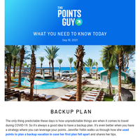 ✈ How to Use Points to Plan a Backup Vacation, Hilton Extends Elite Status & More From TPG ✈