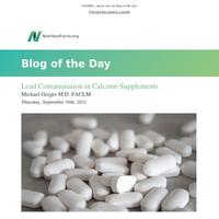 Lead Contamination in Calcium Supplements