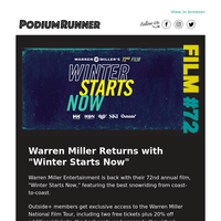 In Theaters and at Home - Get Premium Warren Miller Access