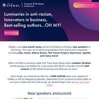 SIGNAL Speaker Announcement!