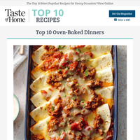 Top 10 Oven-Baked Dinners