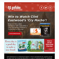 Win to Watch Clint Eastwood's 'Cry Macho' AND a Clint Eastwood Director's Collection on Blu-Ray!