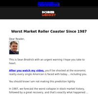 Worst Market Roller Coaster Since 1987