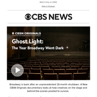 Now Streaming- Ghost Light: The Year Broadway Went Dark