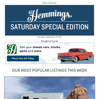 Whether you're wheelin,' cruisin' or buggin,' do it in style with Hemmings!