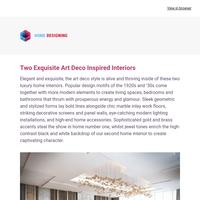 Two Exquisite Art Deco Inspired Interiors: Interior Design Ideas