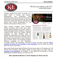 Remarkable Variety of K&L's Spirits Department