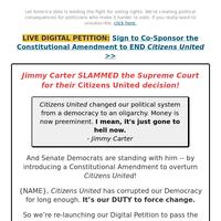 Jimmy Carter (live digital petition)