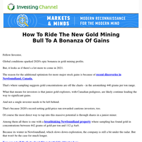 The #1 Gold Stock To Stave Off Market Volatility