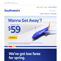 $59 fares to a getawaaaaaaaay.