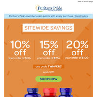 10%, 15% or 20% off » Choose your deal