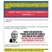 Sen. Warnock's voting rights bill FILIBUSTERED?!