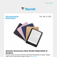 Amazon Announces New Kindle Paperwhite E-Readers