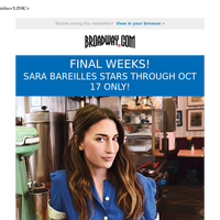 Last Chance to see Sara Bareilles in WAITRESS!