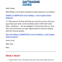 [YT Live Stream Today] Live Trading + Crypto Chart Analysis 12:00 PM EST