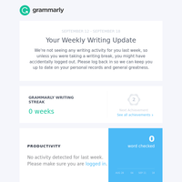 Your Weekly Writing Stats + 40% Off Any Plan