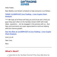 [Join Us Now] YouTube Stream: Live Trading + Crypto Chart Analysis 12:00 PM EST