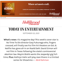 Netflix Acquires Roald Dahl's Stories; Hollywood Pins Its Hopes on Bond Director Cary Fukunaga; Why IATSE May Call for a Strike; Remembering Willie Garson
