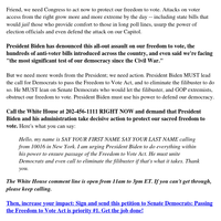 We CAN pass voting rights legislation (please read)