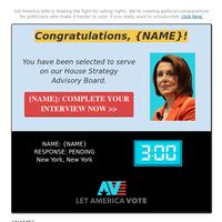 Confirm your New York House Advisory Board Survey >>