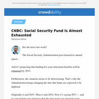 CNBC: Social Security Fund Is Almost Exhausted