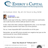Oil Outlook 2022: My #1 Oil Stock to Buy NOW