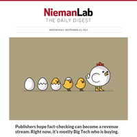 Publishers hope fact-checking can become a revenue stream. Right now, it's mostly Big Tech who is buying.