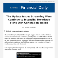 The Update Issue: Streaming Wars Continue to Intensify, Broadway Flirts with Generation TikTok