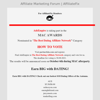AdsEmpire - VOTE in the MAC AWARDS