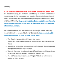 5 reasons the Democratic House Majority is at risk