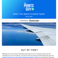 ✈ Running Out of Time? 5 Ways to Hit Your Card's Minimum Spending Bonus & More Daily News From TPG ✈