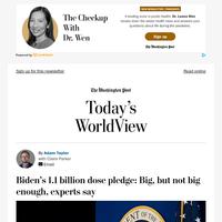 Today's WorldView: Biden's billion-dose pledge