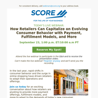 Today's Webinar: How Retailers Can Capitalize on Evolving Consumer Behavior with Payment, Fulfillment Models, and More
