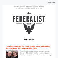 The Federalist Daily Briefing 2021-09-23