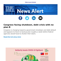 News Alert: Congress facing shutdown, debt crisis with no plan B