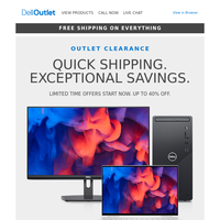 Outlet Clearance   Exceptional savings, ready to ship 💥