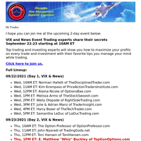 Join Whiz today for LIVE Training: VIX and News Event Trading