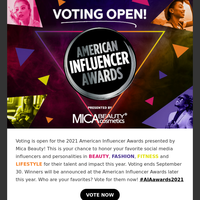 ✨ Vote in the American Influencer Awards!