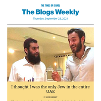I thought I was the only Jew in the UAE * Ellis Island officials didn't change Jewish names * An Israeli Islamist hold the key to the future * No apologies, just a kiss
