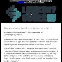 The Miraculous Benefits of Berberine – Part 2