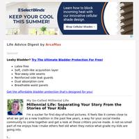 Life Advice Digest for Thursday September 23, 2021